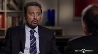 Daily Show correspondent Aasif Mandvi quizzes Jeffrey Smith over Simplot's GM potatoes, which the FDA recently judged to be safe