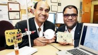 Prof. Subhas Mukhopadhyay, left, and Dr Asif Zia with their sensor