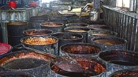 Gutter oil: A mixture of dirty used oils that can be extremely harmful if consumed
