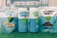 A display at Coconut Beach's booth at Expo West 2016.