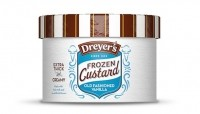 Dreyer's/Edy's Extra Thick & Creamy vanilla custard contains 190 calories per half cup serving compared with 140 calories for Dreyer's/Edy's Grand vanilla ice cream. Picture: Dreyer's